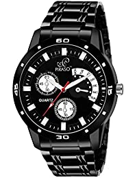 PIRASO Analogue Black Dial Men's Watch