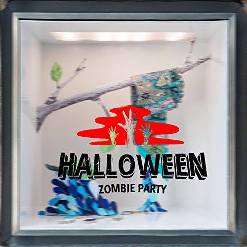 (INOVEY Hallowen Schaufenster Glas Fenster Dekor Wand Sticker Party Haus Home Dekoration kreativ De - rot)