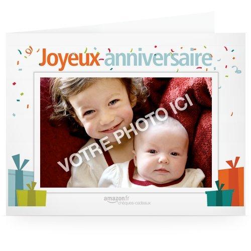 ch ques cadeaux imprimer ajoutez un photo anniversaire ch ques cadeaux. Black Bedroom Furniture Sets. Home Design Ideas
