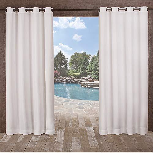 Exklusive Delano Indoor/Outdoor, mit Tülle mit Fenster Vorhang-Paar, Polyester, Winter-Weiß, 54x108 (Blackout Vorhänge Weißes Paar)