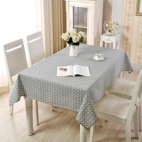 Wondder tovaglie tovaglia in lino di cotone stampa geometrica per tovaglia multifunzionale tovaglia casa cucina decorazione (140x200cm (55x78.7inch), grigio)
