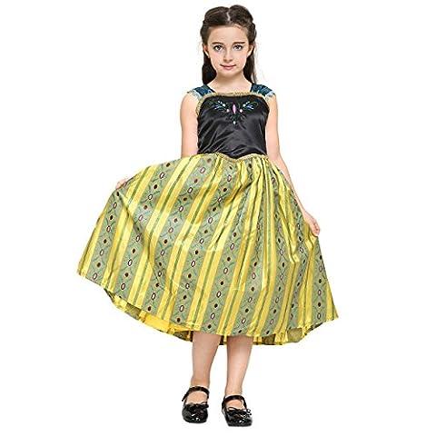 Costumes De Conte De Fées Pour Enfants - Katara - Robe de princesse Anna/ déguisement