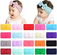 choicbaby 20 diademas de nailon para bebé, para bebés, recién nacidos, niños pequeños
