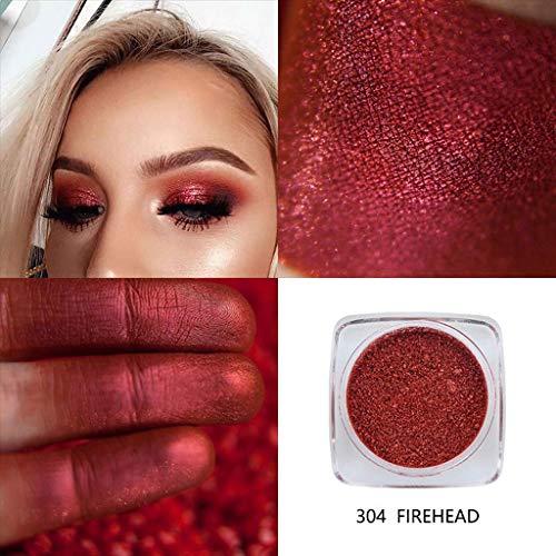 Bobopai Glitter Powder Shimmering Colors Eyeshadow Metallic Eye Cosmetic (D) - Double Ended Base