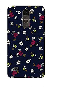 AMAN Hipster Flowers 3D Back Cover for LG Stylus 2