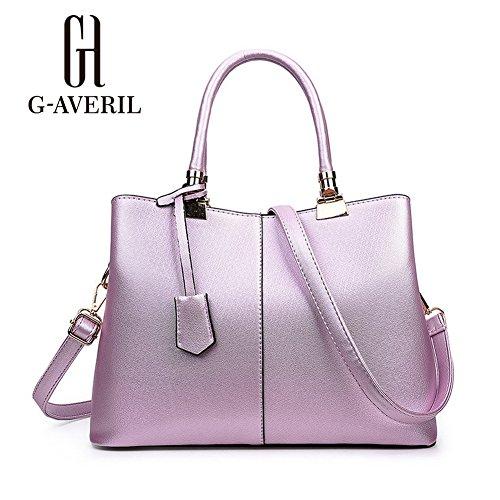 (G-AVERIL) 2018 pell Borsa Donna 2018 borsebag Tote a Spalla Tracolla Shoulderbag Top-Handle rosa