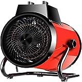 Jian E 3000W riscaldatore Elettrico con 3 Regolazione della velocità di Protezione di Sicurezza, Riscaldamento Industriale for Workshop, Serra, Fabbrica-Red //