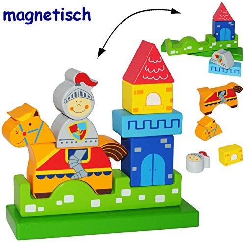 3-D Puzzle - magnetische HOLZ Bausteine & Klötze mit Magneten -
