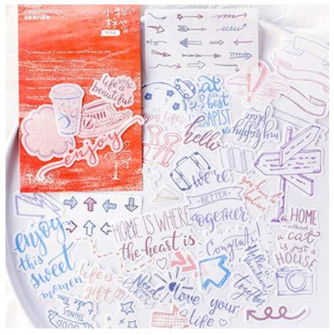 t Schatten Monolog Serie Mode kreative Hand Buch Album DIY Dekoration Aufkleber Computer Koffer Koffer Notebook 3-7cm80pcs Kleine Etiketten ()