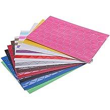 TOOGOO(R) 10 Hojas de Pegatina de Esquina de la hoja / Papel adhesivo / Corner Sticker para DIY album de fotos / libro de recuerdos 102pcs / hoja PVC colorido