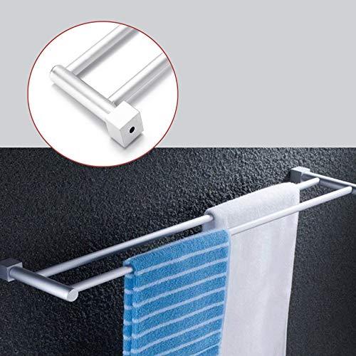 DaDago Bad Doppel-Tuch Schiene Rack 2 Bar Leerstand Aluminum Hanger-Wand Montiert Handtuch-Simuls-Schiene-Rails Bars Holder