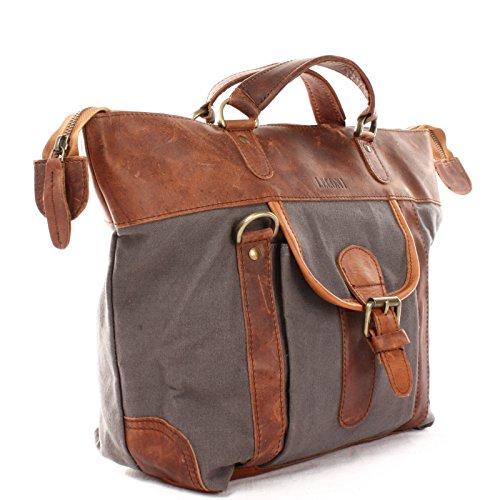 7945fe47a50f7 LECONI Henkeltasche Shopper Damen Tasche Vintage-Style Canvas + Leder  Handtasche Used-Look Damentasche ...