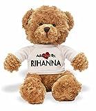AdoptedBy TB1Rihanna Ours en Peluche Portant Un t-Shirt Nom personnalisé