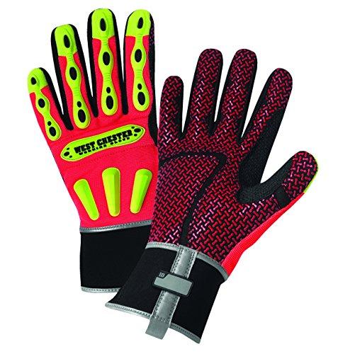 West Chester 86711Synthetik Leder R2Winter Handschuh, Neopren Band Manschette, 10-13/40,6cm Länge, 2x l (1Paar), XXL, Orange, 1 - Chester Labs