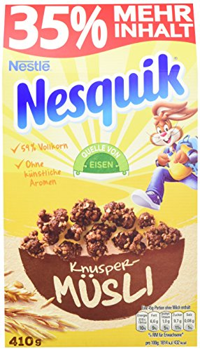 Nestlé Knuspermüsli, Nesquick, 5er Pack (5 x 410 g)