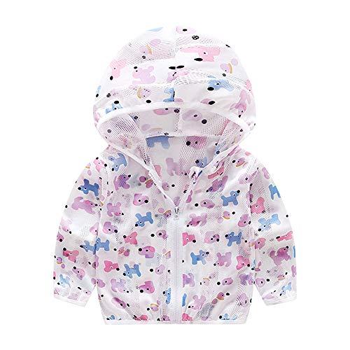 onnenschutz Jacke für Kinder Niedliche Tier Unisex Outwear für Baby Jungen Mädchen(100-Blauer Hund) ()