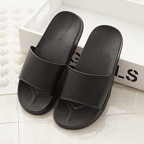 Qsy shoe ciabatte bianche e nere semplici, bianche e nere, antiscivolo, antiscivolo, nere, uomo 44-45
