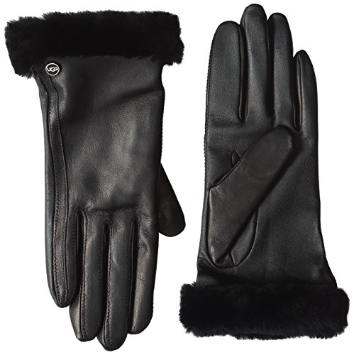 ugg sheepskin turn cuff damen handschuhe schwarz botschaft. Black Bedroom Furniture Sets. Home Design Ideas