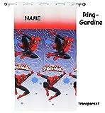 alles-meine.de GmbH Vorhang / FERTIG - Gardine aus Chiffon -  Ultimate Spider-Man  - incl. Name - 140 * 240 cm lang - transparent Organza / Voile - für Fenster & Türen / Fertig..