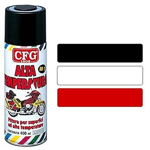 CFG–Spray 400ml Nagellack Acryl für hohe Temperaturen Milleusi Schnelle Trocknung Farbe schwarz
