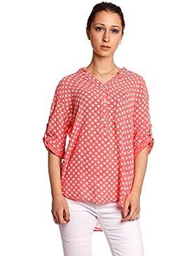 Abbino 8393 Camisas con Puntos Blusas Tops para Mujeres - Hecho en ITALIA - 6 Colores - Entretiempo Primavera...