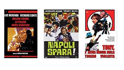 Offerta 3 DVD Film Polizieschi Milano Trema Napoli Spara Tony Laltra Faccia Della Torino Violenta