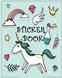 "Sticker Book: ltimate Blank Sticker Book for Kids, Sticker book Collecting Album: Blank Notebook Pages, Size: 8"" x 10"" (Blank Sticker book for Toddlers, Kids, Girls, Boys): Volume 2"