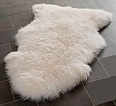 Genuine Large Sheepskin Rug with Extra Thick Wool