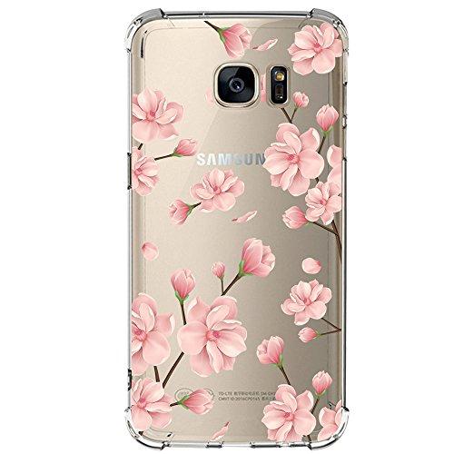 Qissy Samsung Galaxy S7 / S7 Edge Hülle Silikon-Hülle Soft Shell-Transparent Weiche Silikon Schutzhülle Bumper Case für Galaxy S7 EDGE Schutzhülle Anti Handyhülle Cover (7, Samsung Galaxy S7)