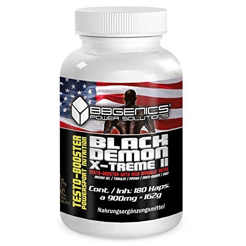BBGenics, BlackDemon X-Treme II, T-Booster, Qualitäts- Maca, Arginin, Tribulus, Zink, Eisen, Chrom, Vitamin B2, B6, C, 180 Caps.