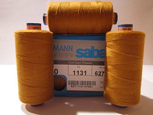 (1,80€/100m) Nähgarn AMANN SABA Stärke: 50er (500m) 60 Farben zu Auswahl (21 = Jeans - gold (1131))