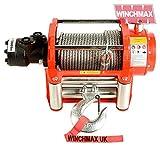 Winchmax Hydraulische Seilwinde 10000LB Original Orange Seilwinde, Stahl Seil–Seilwinde nur