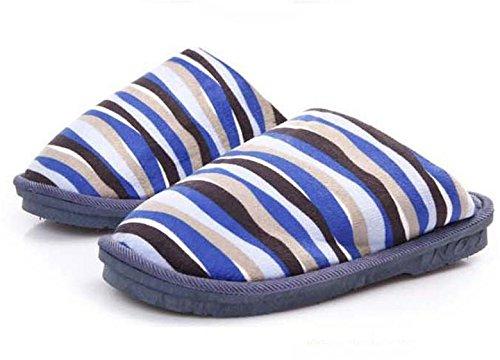 W&XY Les pantoufles de coton des hommes dhiver à la maison ainsi que de grandes chaussures antidérapantes épaisses chaudes rembourrées en coton à la fin 43