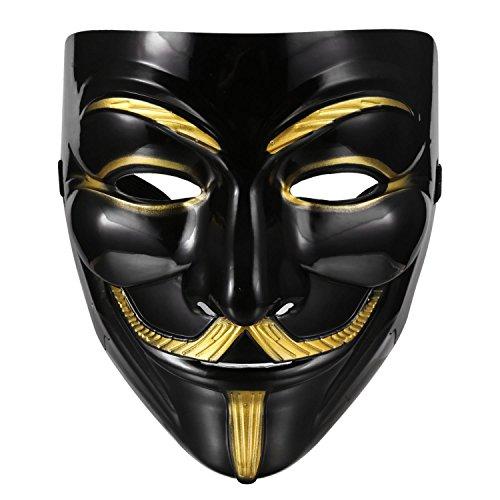 YAGAIU Vendetta Mask Mask Guy Fawkes Anonymous Replica Demo, – Carnival Mask Anti Acta Demo ()