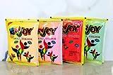 Profitez de 100% naturel Rangoli Holi couleur poudre Gulal Gulaal - à base de plantes, peau-sûre et non-toxique (paquet de 4 couleurs assorties) 100g chacun