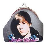 Officiel Justin Bieber Gris Clip de pièce de monnaie Porte-monnaie Sac Portefeuille