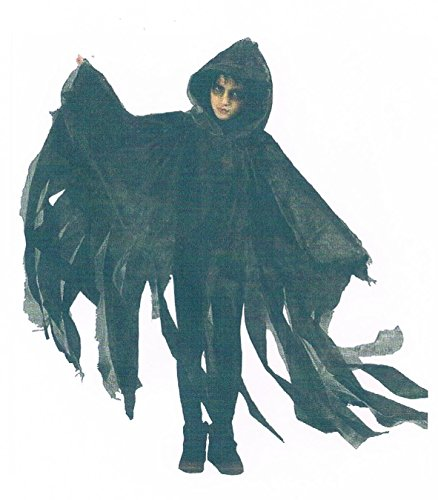 Sachsen Versand Kinder-grau-Children-Cape-Umhang-Halloween-Maske-Zombi-Kürbis-Gruseln-Schream-Blut-OneSize