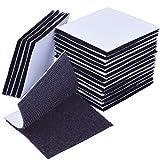 euhuton 20 Stücke Dual Lock Klettband Selbstklebend Doppelseitig Schaumstoff-Pads Klettband Klettpunkte für Wände und Boden, Tür, Gläser, Metalle, Spiegel (Quadrat 60 mm)