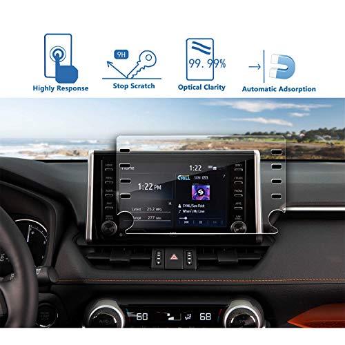 LFOTPP Auto 8 pollici Navigation vetro pellicola protettiva per Toyota RAV4 5 - 9H antigraffio pellicola protettiva in vetro temperato (8 pollici)