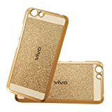 AccWorld Luxury Sparkling Hard Back Case Cover for Vivo Y53 (Gold)