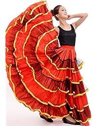 peiwen Mujer de Baile de toros español Falda Grande 9eff445338d7