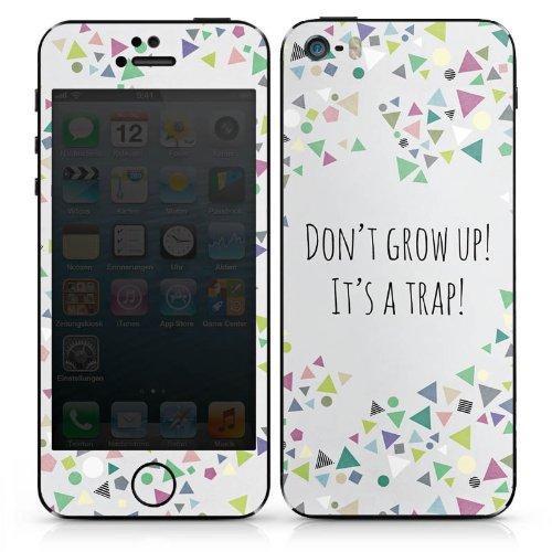 Apple iPhone 6 Case Skin Sticker aus Vinyl-Folie Aufkleber Sprüche Muster Dreiecke DesignSkins® glänzend