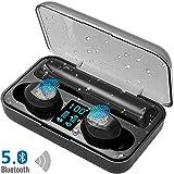 LTPAG HD Audífonos Bluetooth Deportivos, Hi-Fi 8D Estéreo Auriculares Bluetooth Inalámbricos, Control Táctil Audífonos Bluetooth Micrófonos Dual Incorporado, IPX7 Impermeable -Garantía de 2 años