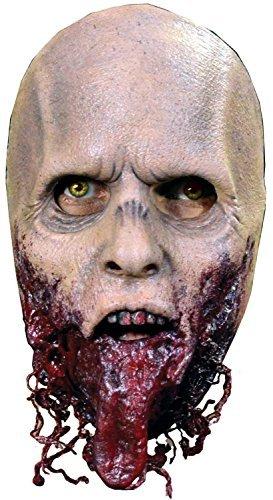 Erwachsene Deluxe Latex Walking Dead Beißer ohne Kiefer pirschjäger Con Convention Cosplay Profi-Qualität Theater Halloween Horror Zombe Kostüm Kleid Outfit Maske (The Walking Dead Walker Kostüm)