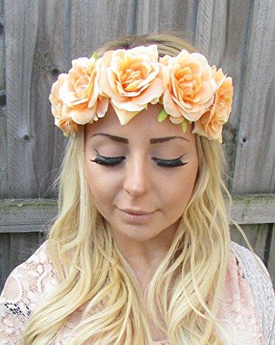 Abricot Nude Pêche Rose cheveux fleur couronne Serre-tête guirlande style vintage T82 * * * * * * * * exclusivement vendu par – Beauté * * * * * * * *