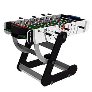 Riley VR90 - Babyfoot pliable compact avec 2 balles et bouliers (82x140,5x76,5cm, rangement facile)