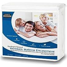 Utopia Bedding Funda de colchón Impermeable con Cremallera - Altura del colchón 25-35 cm