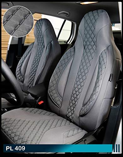 Maß Sitzbezüge Ford Focus 1 Fahrer & Beifahrer ab BJ 1998-2004 Farbnummer: PL409 - Sitzbezug Ford 1998
