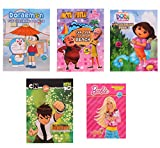 Set of 5 Ultimate Fun Drawing and Coloring Books for Kids