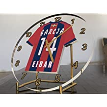 Reloj de sobremesa, diseño de camiseta de fútbol de La Ligaespañola, hombre, SD Eibar